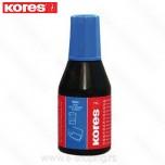 Boja - mastilo za pečate Kores plavo 28ml Art. 71308