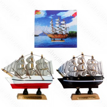 Brod drveni 10cm No.Z-021