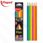 Drvene boje Maped 1/6 Color'Peps fluo No.832003