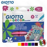 Flomasteri Fila Giotto Decor tekstil 4+2 No.494800
