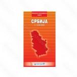 Karta Srbija fizičko-geografska ćirilica - IS