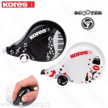 Korektor u traci Kores Scooter black&white 4,2mm x 8m duo pak 84901
