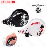 Korektor u traci Kores Scooter black&white 4,2mm x 8m duo pak 84901