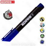 Marker Kores permanent XP1 plavi obli vrh Art. 20933