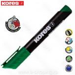 Marker Kores permanent XP1 zeleni obli vrh Art. 20935
