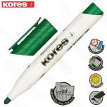 Marker Kores whiteboard XW1 zeleni obli vrh Art. 20835