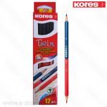 Olovka grafitna Kores crveno-plava No. 94871