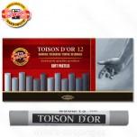 Pasteli suvi Koh-I-Noor Toison D'or 1/12 sivi tonovi Art. 8512 GY