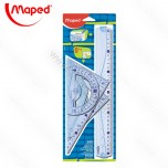 Set lenjira Maped Geometric 30cm 1/4 No.242767