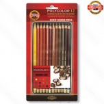 Umetnički art set Koh-I-Noor Polycolor Brown Line Art. 3822