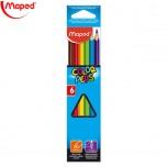 Drvene boje Maped 1/6 Color'Peps Art. 832002