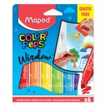 Flomasteri za staklo Maped window color 1/6 Art.844820