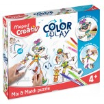 Set Maped Creativ color and play - match puzzle Art. 907001